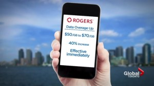 Rogers raises data overage rates by 40%